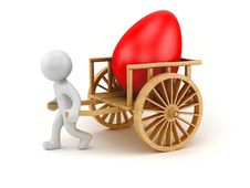 Free Egg Chariot Stock Image - 24010361