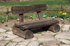 Free Wooden Bench Stock Image - 24014681