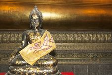 Free Small Buddha Bronze Royalty Free Stock Images - 24015639