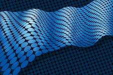 Free Abstract Blue Membrane Ribbon Stock Photography - 24015912