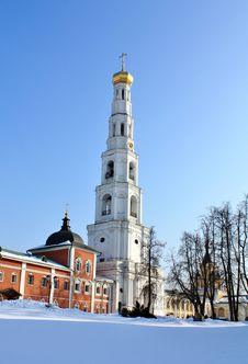 Free Bell Tower Of The Nicholas Ugreshsky Monastery Royalty Free Stock Photos - 24016288