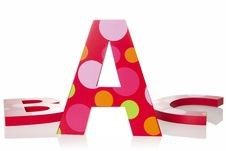 Isolated Objects: ABC Letter Blocks Stock Photos