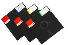 Free Isolated Objects: Floppy Disks Stock Photo - 24016880