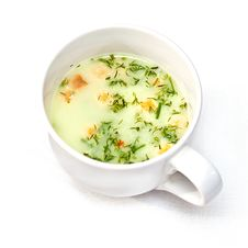 Free A Cup Of Instant Soup Royalty Free Stock Photos - 24017928