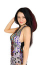 Free Beautiful Girl Wearing Dress Smiles Royalty Free Stock Photo - 24020465