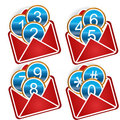 Free Buttons In An Envelope Stock Images - 24026554