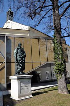 Free The Statue Of F. Schiller In Salzburg, Austria Stock Photo - 24020230