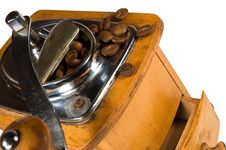 Free Old Wooden Coffee Mil Royalty Free Stock Photo - 24023455