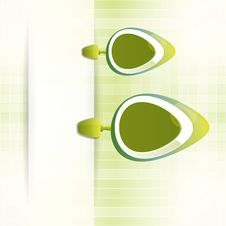 Abstract Green Vector Background With Banner Stock Image