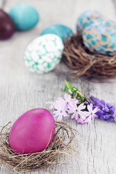 Free Easter Eggs Royalty Free Stock Photo - 24024155
