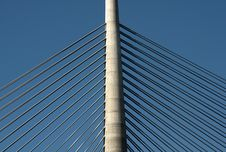Free Pylon Of The Bridge-4 Royalty Free Stock Photo - 24026605