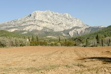 Sainte Victoire Mountain, Symbol Of Provence Royalty Free Stock Image