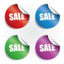 Free Sale Stickers Set Royalty Free Stock Photo - 24027475