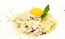 Free Spaghetti With Egg Stock Photography - 24029162