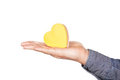 Free The Shape Of Heart On The Palm. Royalty Free Stock Images - 24031519