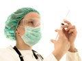 Free Female Doctor With Syringe. Royalty Free Stock Image - 24037666