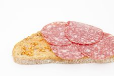 Bread And Sausage Royalty Free Stock Photo