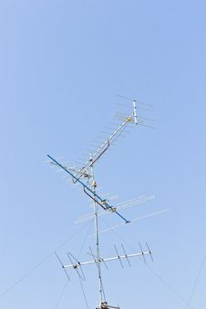 Free Antenna In The Blue Sky Royalty Free Stock Photo - 24033375