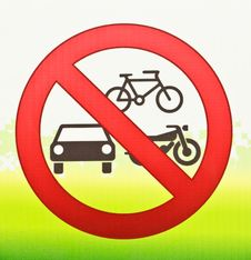 Free Icon Of No Vehicles Allowed Stock Photography - 24033452