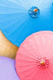Free The Colorful Umbrella Royalty Free Stock Photography - 24033477
