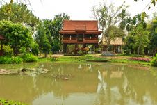 Free Thai Style House Stock Image - 24033581