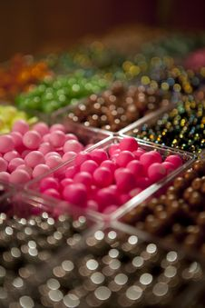 Free Beads In Boxes Stock Photography - 24034862