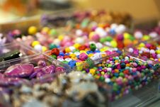 Free Beads In Boxes Royalty Free Stock Images - 24034969