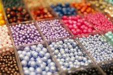 Free Beads In Boxes Royalty Free Stock Photos - 24035098