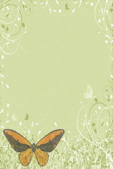Free Green Butterflies Letter Stock Photo - 24035960