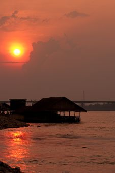 Mekong River, Thailand And Laos Royalty Free Stock Photo