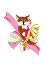 Free Pretty Kitty With Heart And Bow Royalty Free Stock Image - 24041146