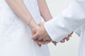 Free Bride And Groom Holding Hands Stock Photo - 24043620