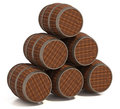 Free Old Wooden Barrels Stock Photography - 24044912