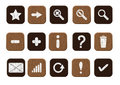 Free Wooden Icons Set White Royalty Free Stock Photography - 24045167