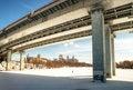 Free Modern Bridge Through A Moskva River Royalty Free Stock Image - 24046766
