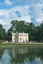 Free Pavilion By Pond In Catherine Park, Tsarskoye Selo Royalty Free Stock Photos - 24048058