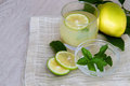 Free Lemonade With Mint Stock Photography - 24049492