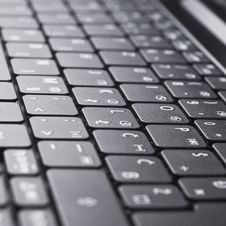 Free Black Keyboard Royalty Free Stock Photos - 24040078