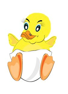 Funny Painted Duckling Royalty Free Stock Images
