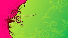 Free Flourish Design Background Royalty Free Stock Photo - 24041195