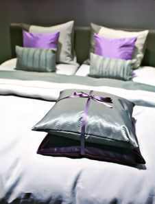Bed Pillows Stock Images