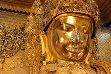 Mahamuni Buddha, Mandalay Stock Images