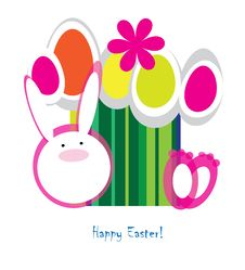 Free Easter Postcard Royalty Free Stock Images - 24043199