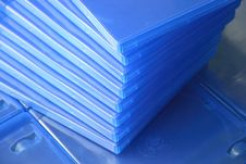 Plastic Blu Ray  Cases Royalty Free Stock Photo