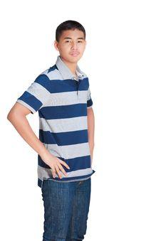 Free Asian Teenage Boy Royalty Free Stock Images - 24044179