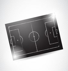 Free Abstract Soccer Tactics Board Royalty Free Stock Images - 24045209