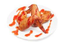 Free Smoked Chicken Wings Stock Images - 24045294