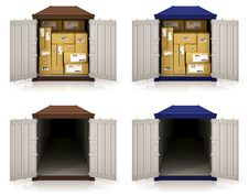 Free Cargo Containers Royalty Free Stock Photography - 24045297