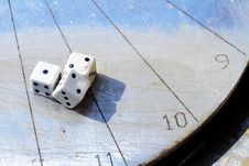 Free Sundial Dice Royalty Free Stock Photography - 24045737
