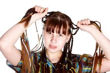 Free The Teenage Girl With Plaits Stock Photos - 24046503